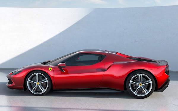 Nova Ferrari 296 GTB híbrida plug-in tem 830 cv de potência
