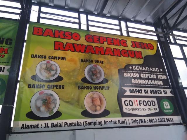 bakso gepeng rawamangun yang legendaris