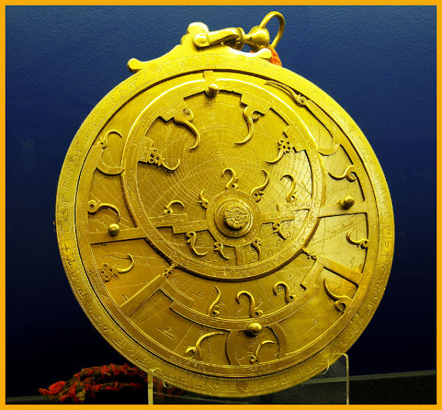 Pict: The curved spikes on this 18th century Persian astrolabe mark the brightest stars.