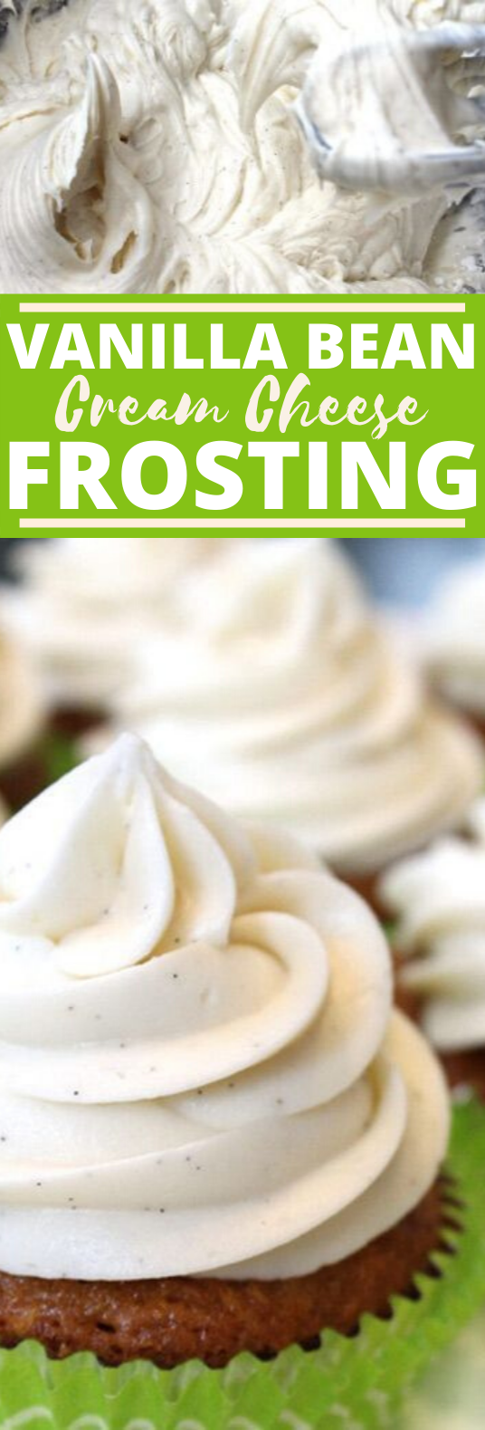 Vanilla Bean Cream Cheese Frosting #desserts #cakes #frosting #cookies #baking