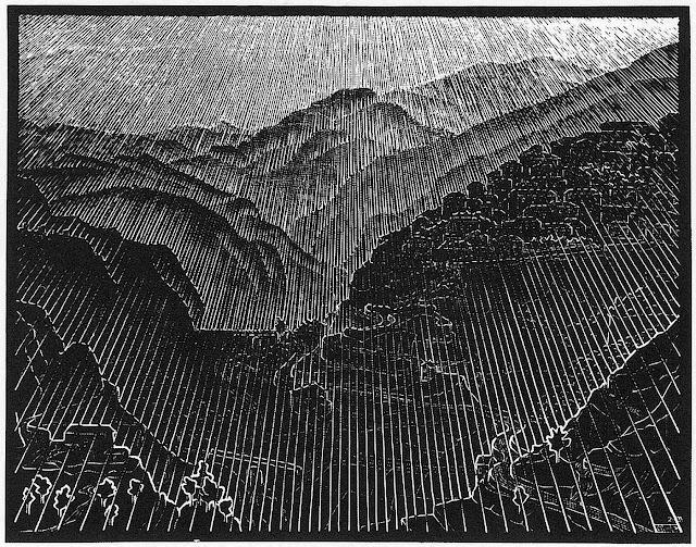 Maurits Cornelis Escher, sunshine, sun