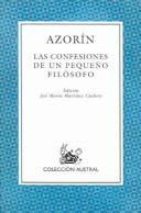 Las confesiones de un pequeño filósofo / Azorín