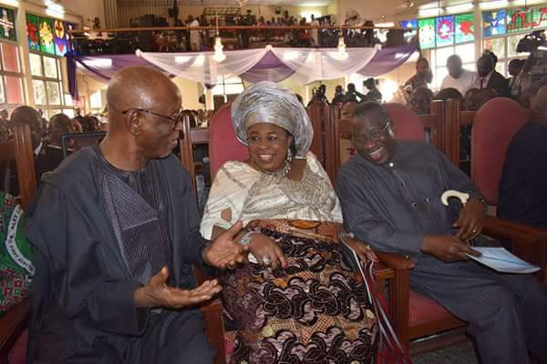 Patience, Jonathan And Oyegun Have A Jolly Good Laugh At Ekwueme's Burial