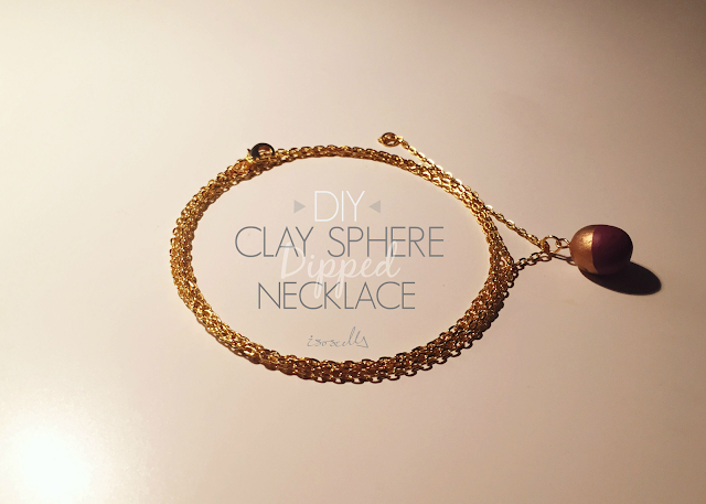 DIY Clay Sphere Dipped Necklace header