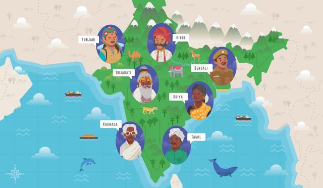 Điều đáng ngạc nhiên là Ấn Độ là quốc gia duy nhất trên thế giới nói đến 1600 ngôn ngữ khác nhau. Tuy nhiên, trong số này chỉ có 122 thứ tiếng được cho là ngôn ngữ chính. Bên cạnh đó, đây cũng là quốc gia có nhiều người nói tiếng Anh nhất thế giới chỉ sau Mỹ. Và mặc dù có nhiều thứ tiếng như vậy nhưng Ấn Độ lại không có ngôn ngữ quốc gia chính thống.