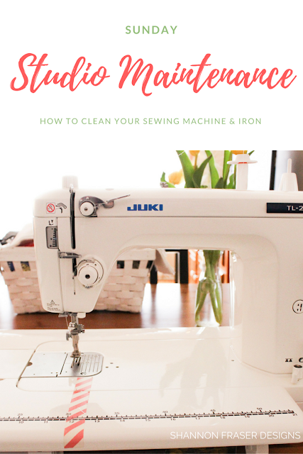 How to clean your sewing machine & Iron | Sunday Studio Maintenance with Shannon Fraser Designs | DIY Sewing Machine Care | Juki TL-2010Q | Quilting Studio Maintenance