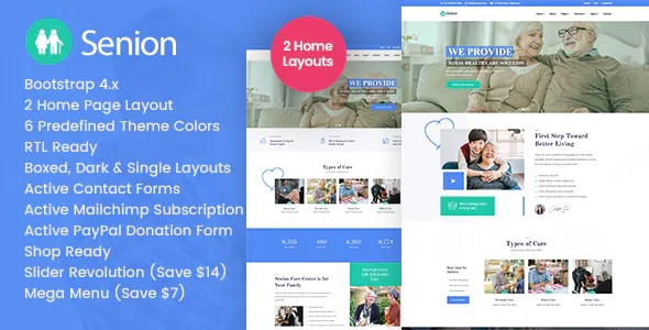 Senion - Health Medical HTML Template