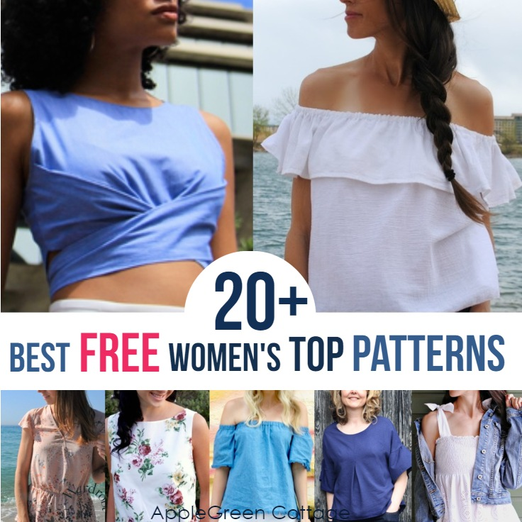 20 Best Free Sewing Patterns For Womens Tops Applegreen Cottage