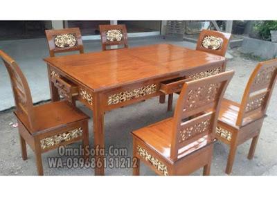 kursi makan kartini, kursi makan ukiran, meja makan kartini, meja makan minimalis, meja makan ukir jepara, Set Meja Kursi Makan,