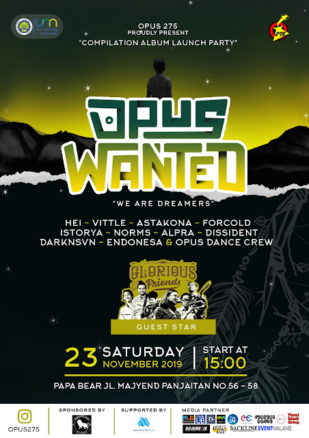 "EVENT: OPUS WANTED ""We Are Dreamers"""