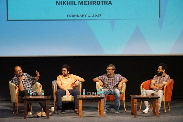 Left to Right Meghna Puri, Subhash Ghai, Nitesh Tiwari,Ashwini Iyer, Nikhil Mehrotra and Shreyas Jain
