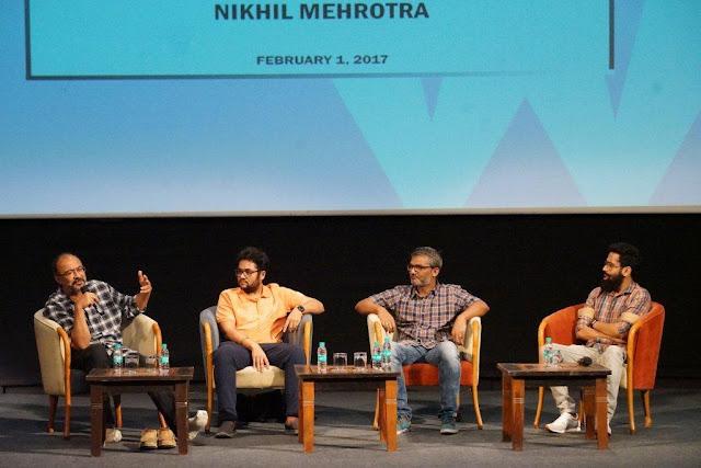 Left to Right Meghna Puri, Subhash Ghai, Nitesh Tiwari,Ashwini Iyer, Nikhil Mehrotra and Shreyas Jain