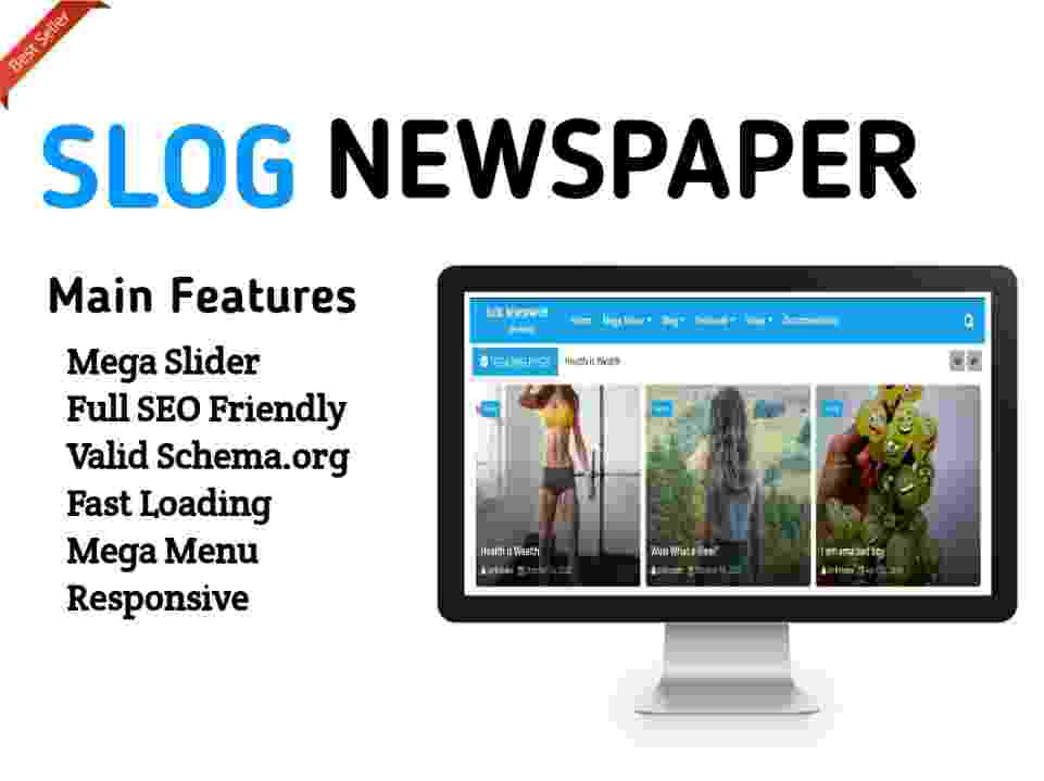 Newspaper 10 Blogger Template