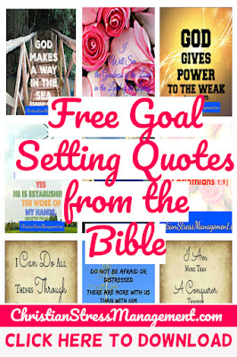 Free Goal Setting Quotes from the Bible