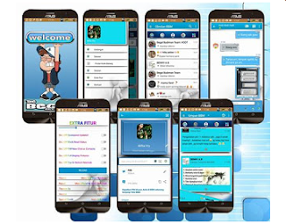 Download BBM MOD Blue White Combination APK V3.1.0.18