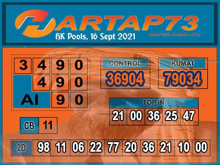 Syair HK kamis 16 September 2021 -