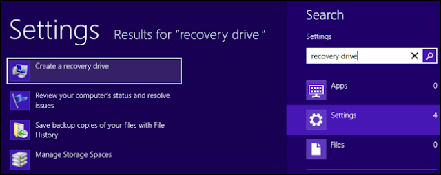 Create a Recovery Drive in Windows