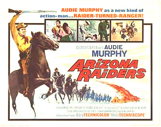 Arizona Raiders Film Poster - William Witney,1965