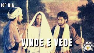Andre e João seguem jesus
