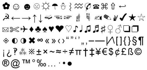 Simbol Text Unik Special Characters Untuk Nickname