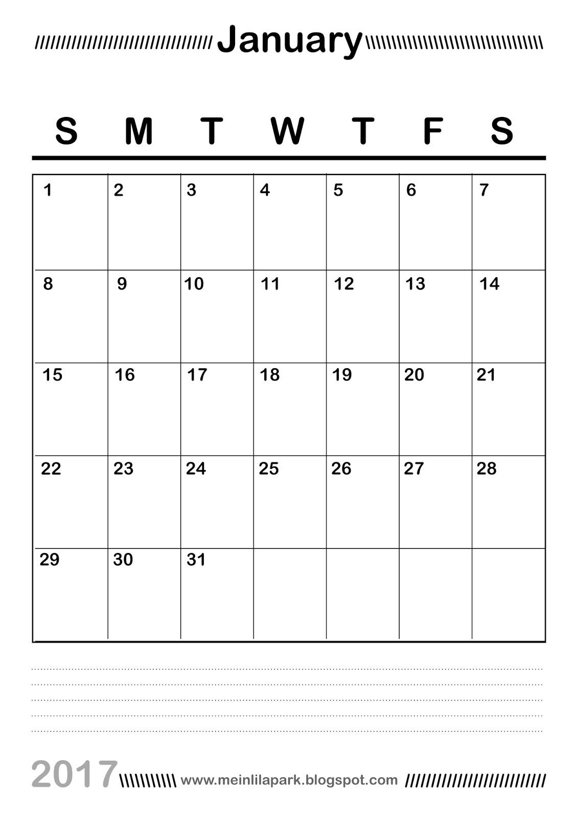 Free Printable Planner Calendar Vertical