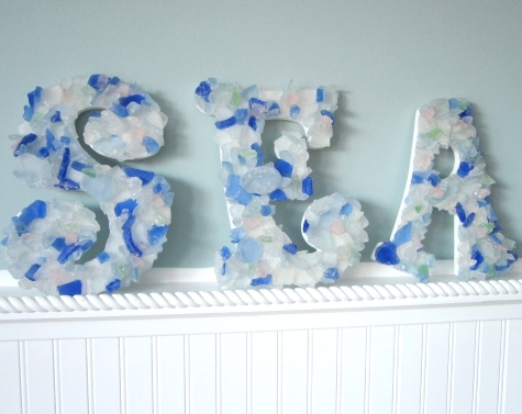 seaglass letters