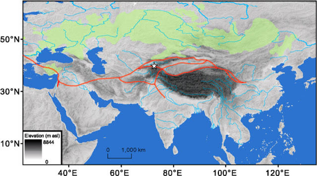 Megadroughts in arid central Asia delayed the cultural exchange along the proto-Silk Road