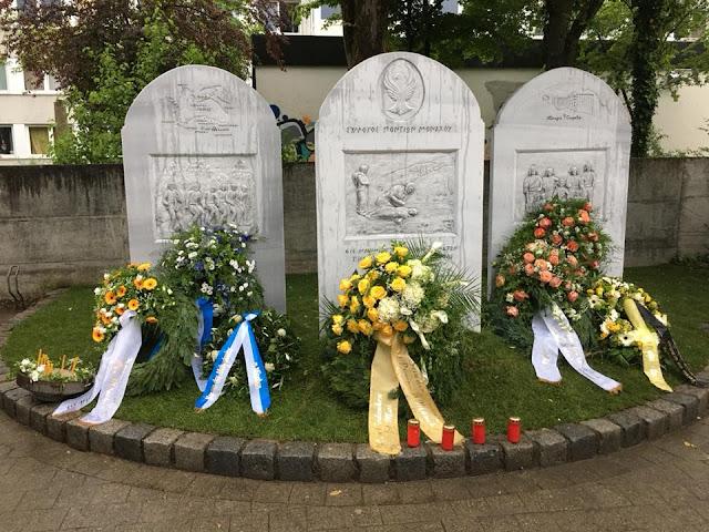 Έντονη συγκίνηση στα αποκαλυπτήρια του μνημείου της Γενοκτονίας των Ποντίων στο Μόναχο