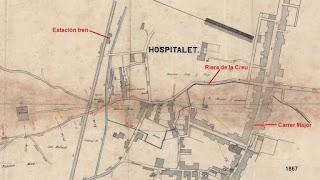 Mapa de Hospitalet -Centro (1867)