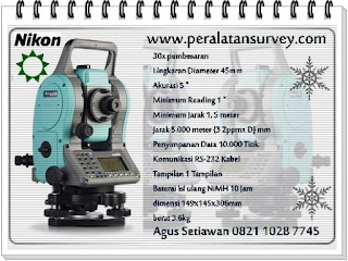 Promo NIKON-5m Total Station Reflectorless 350m Memory 8-GB