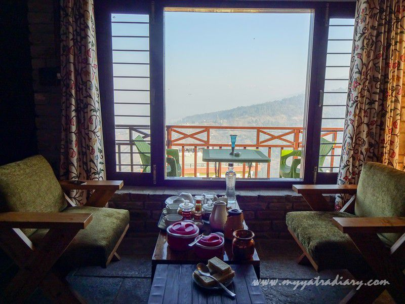 Breakfast with a view at The Himalayan Bungalow - A boutique homestay Almora