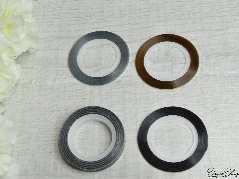 AliExpress haul, zakupy z AliExpress, ozdoby do paznokci, gadżety, tasiemki cienkie ozdobne, nail tape