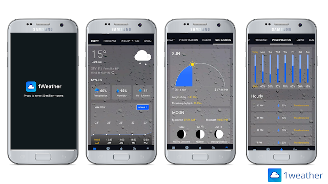 1weather, best weather app for Android