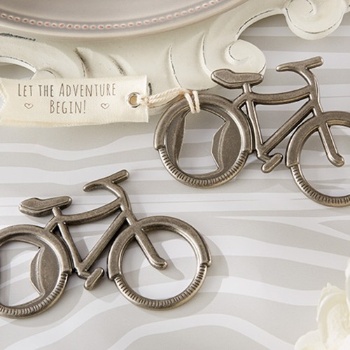 Everyone needs a bottle opener -- or two or three -- so they're perfect wedding favor ideas. Get some ideas for fun Bottle Opener Wedding Favors from www.abrideonabudget.com.
