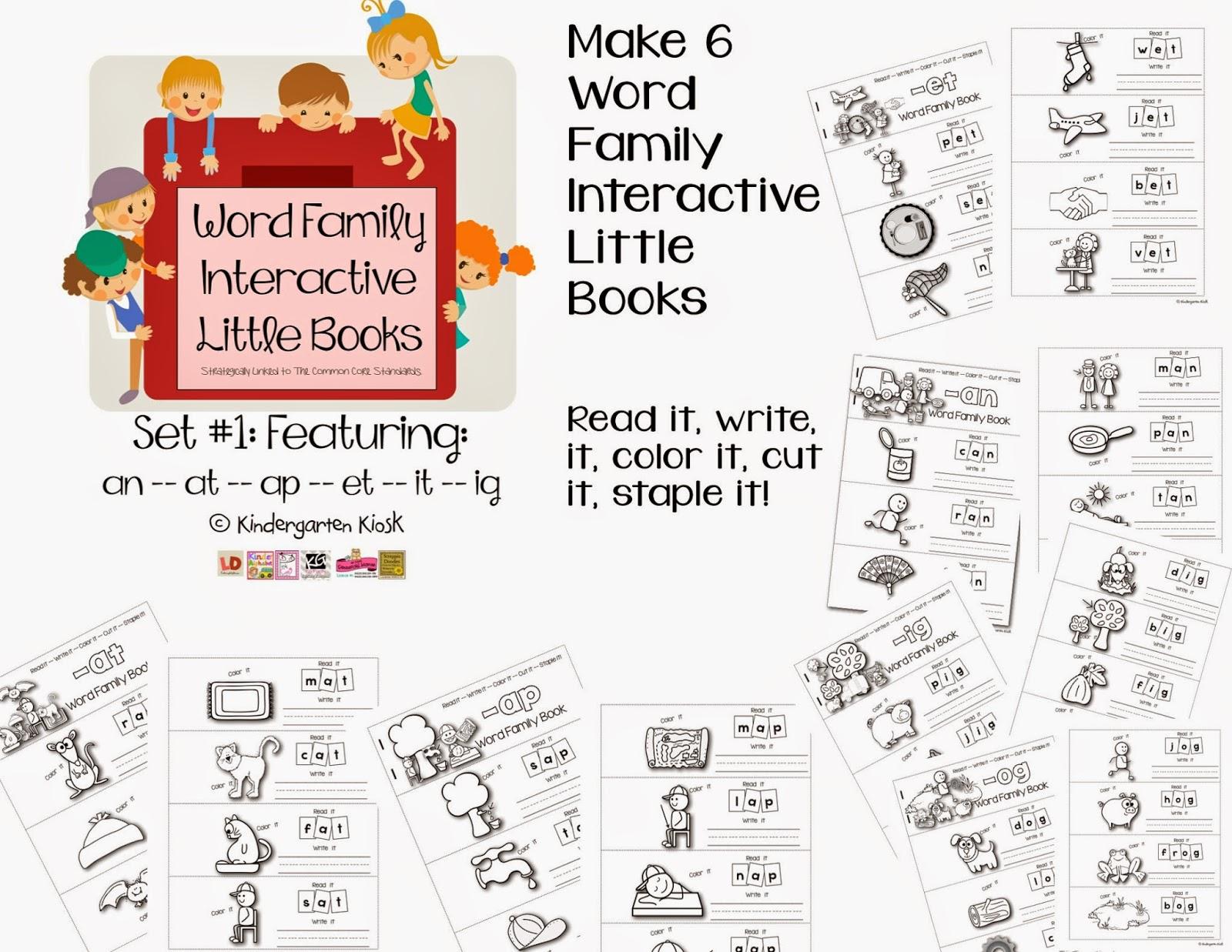 Kindergarten Kiosk Word Families