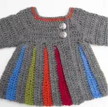 Abrigo Bebé Eloise a Crochet