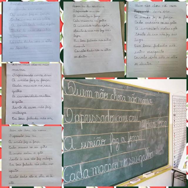 Como usar o caderno de caligrafia?