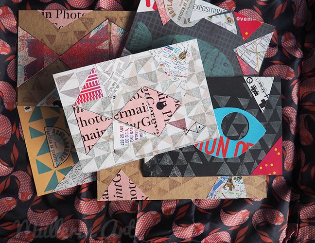 Paris Fischkarten Collage ©muellerinart