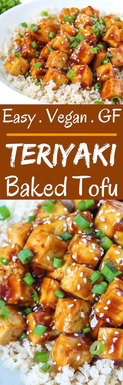 Teriyaki Baked Tofu #vegetarian #dinner