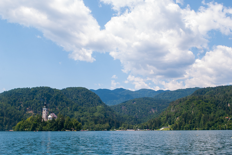 Image of lake bled in slovenia summer