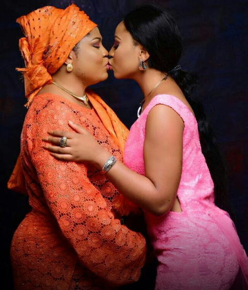 regina daniel kissing mother