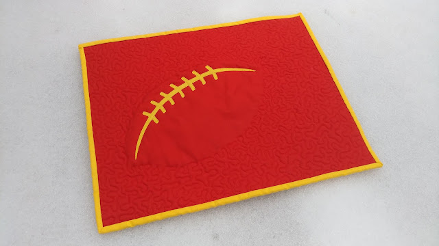 Chiefs football modern mini quilt