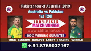 1st T20 Aus vs Pak Match Prediction Today Pakistan tour of Australia, 2019
