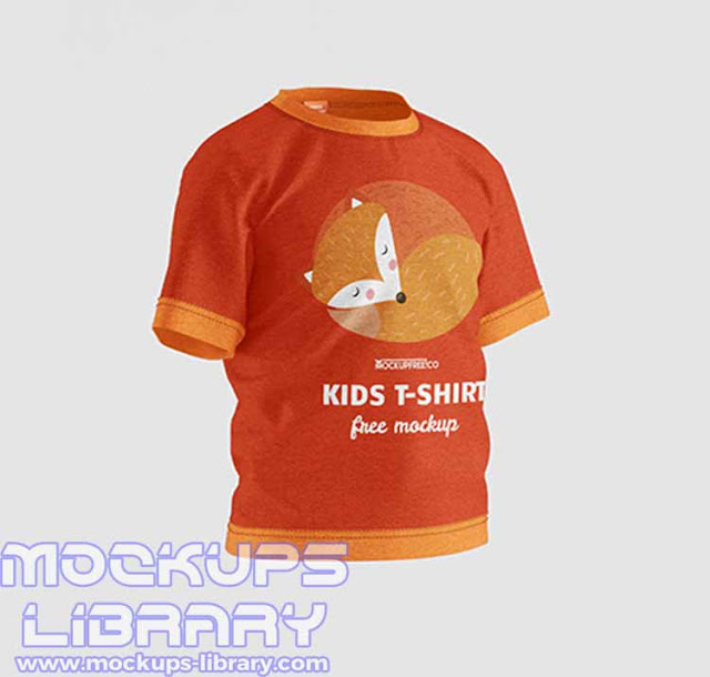 kids t shirt mockup free 2