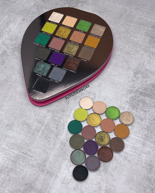 Jeffree Star Alien Palette DUpes with Mac, Colourpop and Coloured raine eyeshadows - Futilities And More