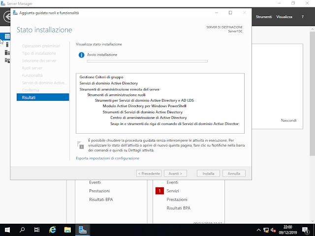 Windows Server 2019, Stato installazione