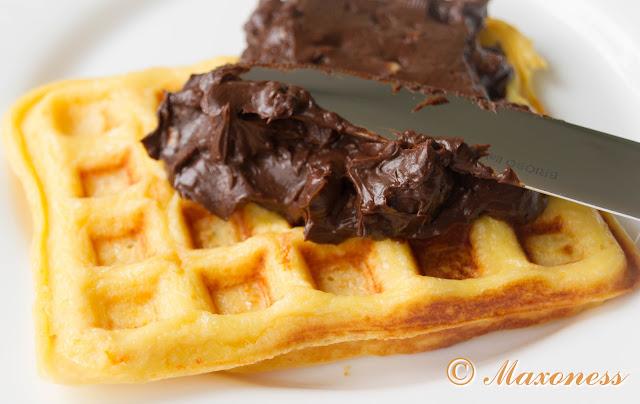 Вафли с шоколадно-ореховой пастой от Алена Дюкасса