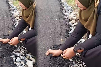 Viral! Anggota Dewan Aceh Garuk Aspal Pakai Tangan Bisa Hancur; Kontraktor Kurangi Bahan