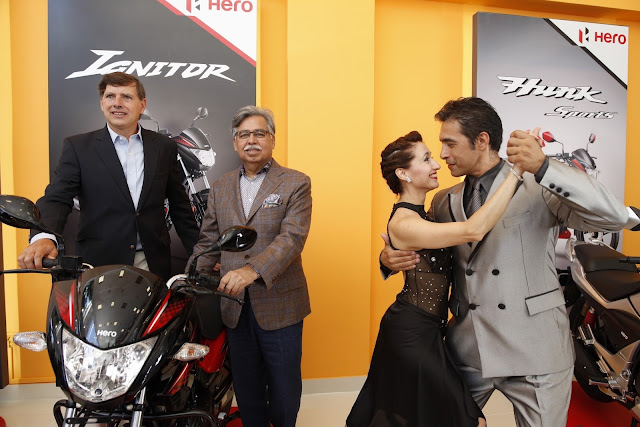Pawan Munjal Chairman Hero MotoCorp at the inauguration of the Hero's signature showroom in Buenos Aires