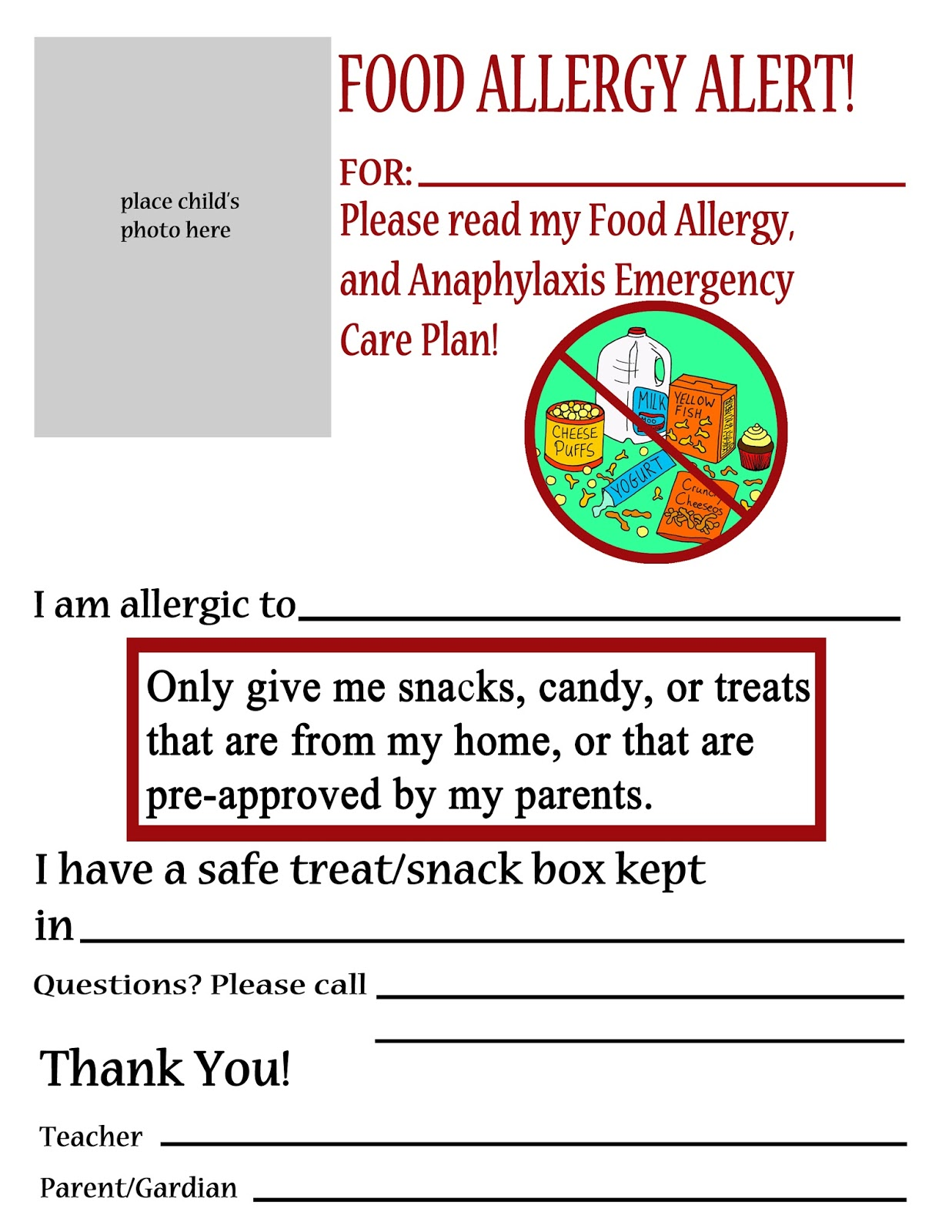 Thriving with allergies food allergy alert daycareschool handouts thriving with allergies food allergy alert daycareschool handouts and posters altavistaventures Image collections